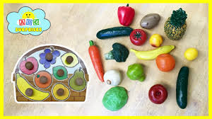 fruits and vegetables name game best learning video for kids