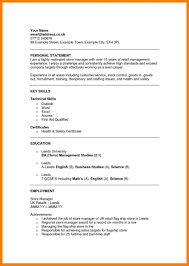 resume sle for job applications cover letter exles of personal statements for resumes how to