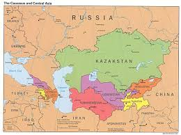 Map Of Russia And China by Caucasus And Central Asia Political Map 1995