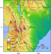 geographical map of kenya geography of kenya