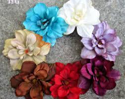 Flower Clips For Hair - aqua hair flower etsy