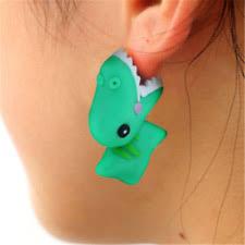 t rex earrings dinosaur earrings ebay