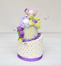 diaper cake for baby shower garden party baby shower purple