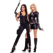 Biker Halloween Costume Tobeinstyle Women U0027s Piece Women U0027s Zippered Terminator