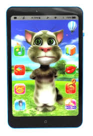 buy talking tom interactive learning tablet black at low