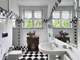 Black And White Checkered Tile Bathroom Black And White Bathroom Mosaic Tiles Decor Crave