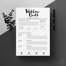 resume cv template cover letter design for word by oddbitsstudio