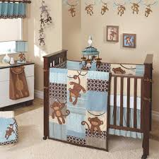Boy Monkey Crib Bedding Giggles 5 Baby Crib Bedding Set By Lambs Lambsivy