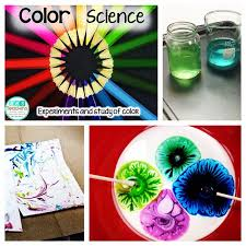 color day included bleach experiments milk glue soap experiments