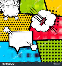 pop art comics book magazine cover stock vector 697497784