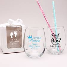 personalized baby shower favors personalized baby stemless wine glass favor personalized