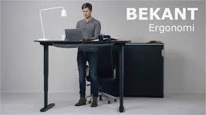 standing or sitting desk lovely bekant ergonomi