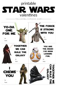 wars valentines day printable wars s day cards yellow bliss road