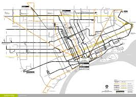 Chicago Transit Authority Map by Detroit Transit History What U0027s New