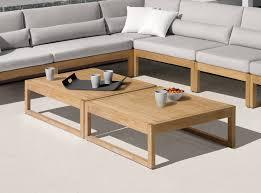 Garden Coffee Table Manutti Siena Teak Garden Coffee Table Modern Garden Furniture