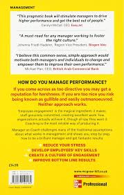manager as coach the new way to get results uk professional