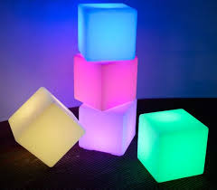 light up cubes cube led light up 50 x 50 x 50cm battery powered 4 in stock