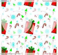 clipart of a seamless background pattern of christmas gifts trees