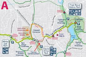 raleigh greenway map white oak creek greenway town of cary