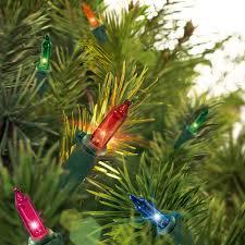 amazon com holiday time 100 multi color mini lights green wire