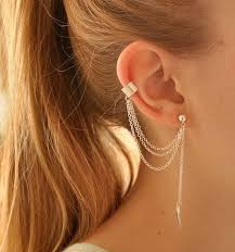 earrings ear buy via mazzini silver lining metal ear cuff earring for women