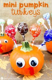 mini pumpkin turkeys thanksgiving craft