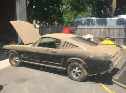 Black 68 Mustang Fastback Running 289 4 Speed Project 1965 Ford Mustang Fastback Bring A