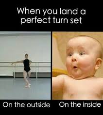 Dancing Baby Meme - perfect turns how manny pirouettes can you do how about second