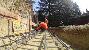 installing rebar retaining wall footing lafayette ca time lapse