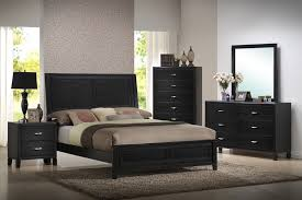Modern Furniture In Orlando by Baxton Studio Eaton Black Wood 5 Piece Queen Modern Bedroom Set