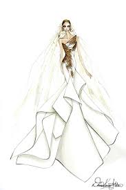 design a wedding dress the gaga wedding dress sketches that left the