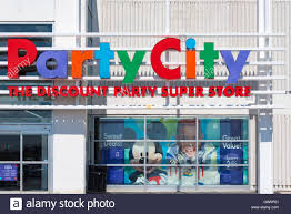 party supply stores party city colorful entrance sign party city is an american