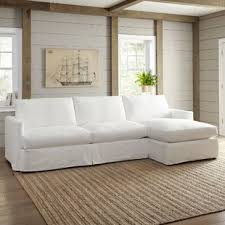 Slipcovered Sectional Sofas Slipcovered Sectional Sofas You Ll Wayfair