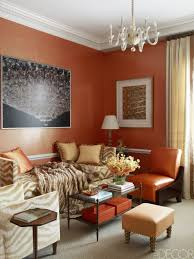 Living Room With Orange Sofa Interior Burnt Orange Wall Paint Colors Burnt Orange Wallpaper B