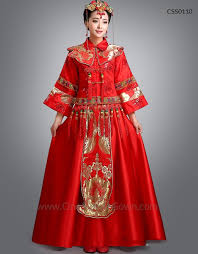 Chinese Wedding Dress Traditional Chinese Wedding Dress And Groom Wear Set