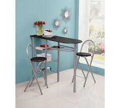 Argos Bar Table Buy Home Amelia Breakfast Bar 2 Chairs Black At Argos Co Uk