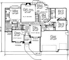 split floor house plans split bedroom house plan with flex room 4145db architectural