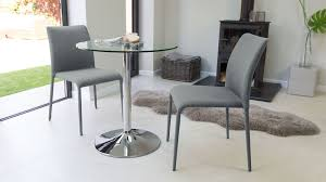 Two Seater Dining Table And Chairs Modern Glass And Chrome Table 2 Seater Uk Pertaining To