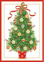 amazon com entertaining with caspari cat christmas tree christmas