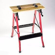 Keter Folding Work Table Bench Mate With 2 Clamps Folding Workbench Ebay