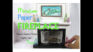 paper floor to ceiling dollhouse miniature fireplace working