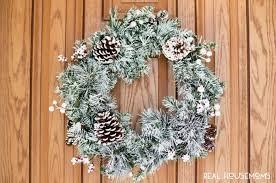 diy flocked wreath real housemoms