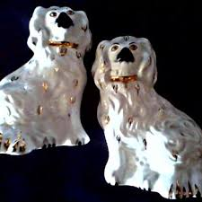 beswick pottery 6 staffordshire king charles spaniel