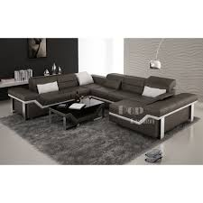 canapé d angle en cuir design canapé d angle cuir panoramique design torino xl pop design fr