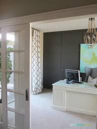 decorating modern traditional design of home office sliding door