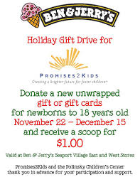 Ben And Jerry S Gift Card - seaport village ben jerry s donation drive seaport village
