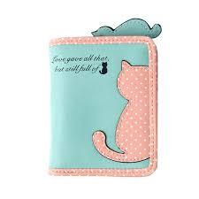 leather women s wallet pattern cute cat women s wallet mini wave point print zipper pattern kids
