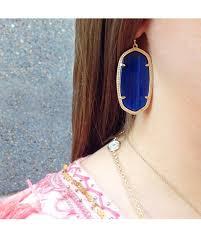 earrings for school kendra s danielle earrings in a navy blue are the