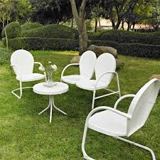 Ebay Patio Furniture Sets by Style Metal 4 Piece Outdoor Retro Furniture Conversation Set Ebay