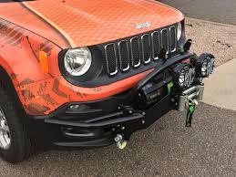 jeep light bar mount jeep renegade front winch bumper light bar mount daykj50003bk daystar